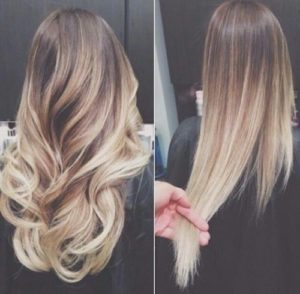 Ombre blond highlights