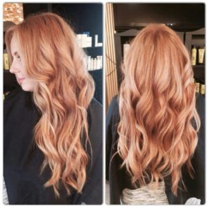 Ginger Blonde highlights