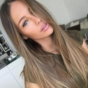 Light Brown Hair with Natural Honey Highlights
