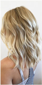 Blond highlights in mid hair