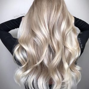 Blonde highlights by creating reflections