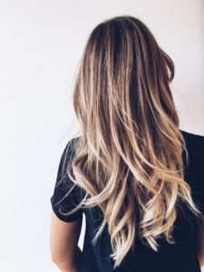 Take care of the blonde highlights