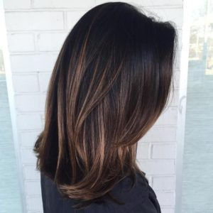 purple highlights for dark hair