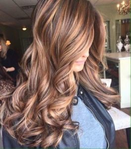 With caramel highlights you have plenty of options to enhance your beauty