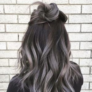 Grey highlights or Ash brown highlights