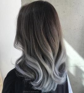 Platinum Highlights on Black Hair