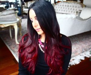 There is more variety of shades in red highlights for your black hair than you could even imagine