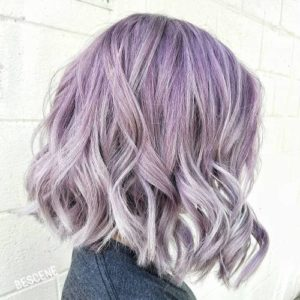 Purple and silver highlights