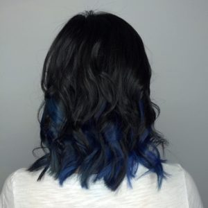 full blue black hair