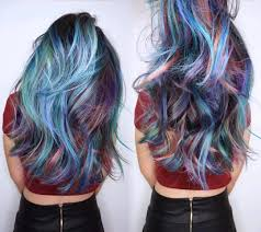 colorfull balayage