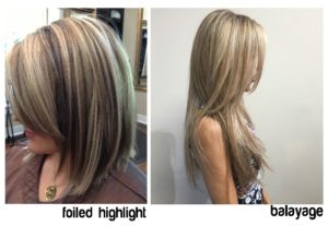 higthlights and balayage