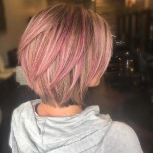different types of pink highlights and textures
