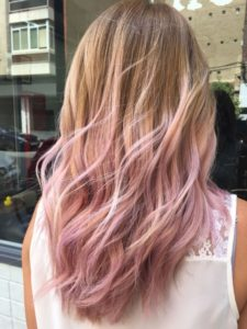 Pastel Hair with Pink Highlights