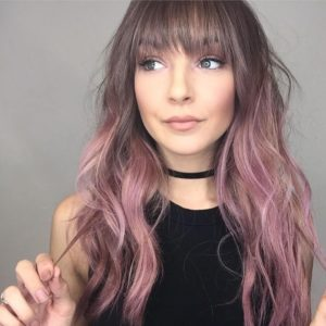 Dust Pink Hair Highlights