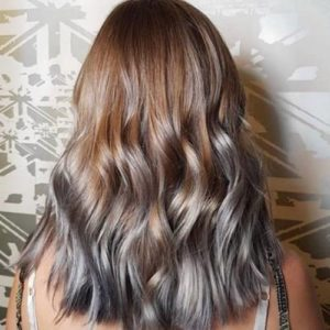 Light Brown Hair with Grey Highlights