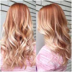 blonde strawberry highlight