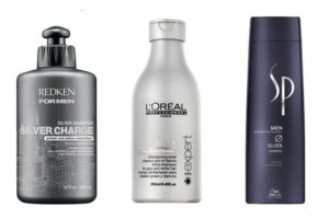 Pantene, L'Oreal, Matrix and especially Jhirmack offer specific products for gray hair.