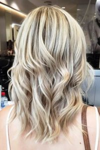 Ash brown highlights on blonde hair