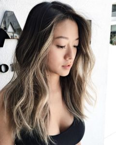 Asian hair gets an immense boost from highlights
