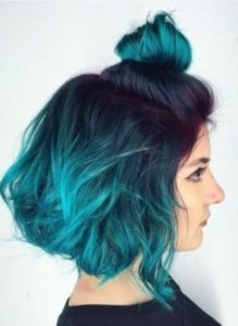 Black hair has a wider arrange of teal highlights shades