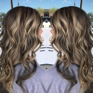 Dimensional highlights for black hair