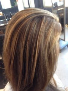 Brown highlights for hair