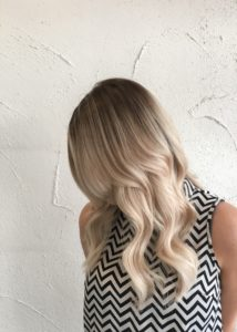 Classic all over blonde