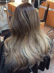 Cool toned balayage