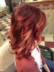 For red hair, try some subtle dimensional highlights