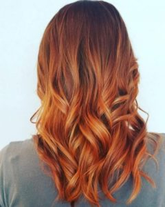 Highlights to your red hair