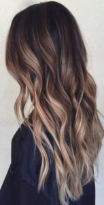 If you are looking for a big change then dirty blonde highlights will look awesome with dark hair