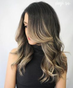 Medium dark hair can look amazingly with dirty blonde highlights as well