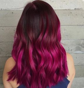 More fabulous and crazy color for your burgundy hair with highlights