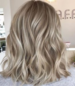 Subtle dimensional highlights for blonde hair