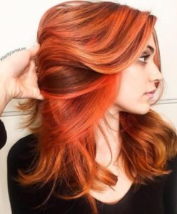 These types of orange highlights