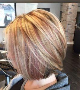 To get such subtle highlights you can try to highlight your hair with natural techniques