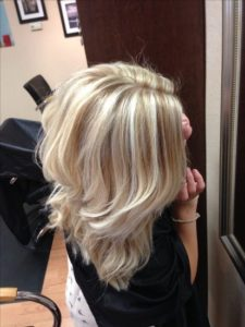 apply your bleached blonde highlights