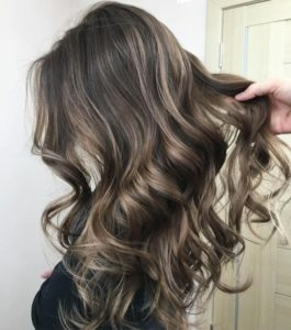 ash brown highlights and the discoloration