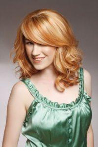 blond hair with orange highlights