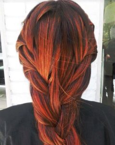 broad in term of orange highlights