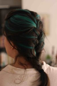 fantasy colored teal highlights