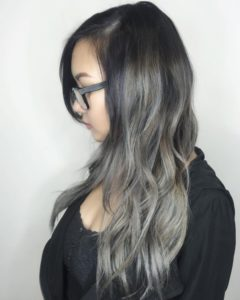 effect with the ash brown highlights