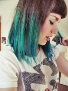hair look with green highlights completely extraordinary