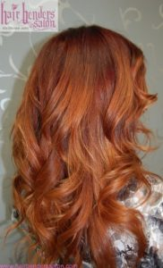 highlights color for red hair