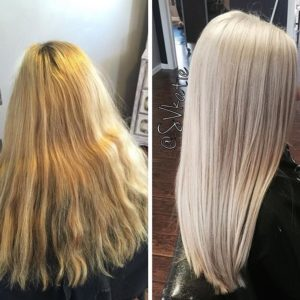 keeping your bleached blonde highlights light and bright