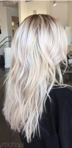 make the bleached blonde highlights fun fantasy colors