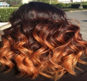 orange or tangerine highlights
