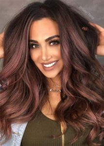 putting highlights on your burgundy hair