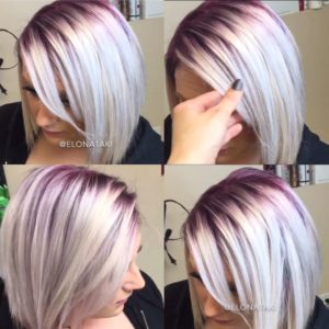 silver highlights will look beautiful with short hair