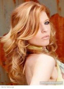 your hair with orange highlights